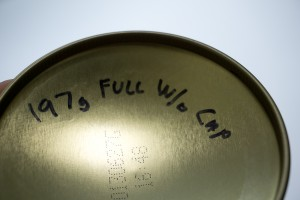 Measure your canisters when full so its easy to determine the fuel level with partial canisters.