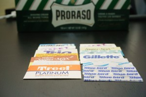 Proraso and blade sampler from Amazon.com